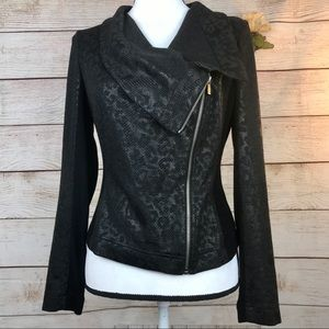 Turo by Vince Camuto Leopard Print Moto Jacket